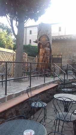 cafe outdoor seating area