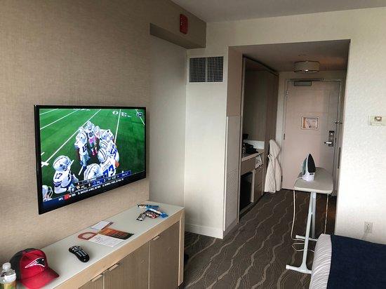 HDTV counter space