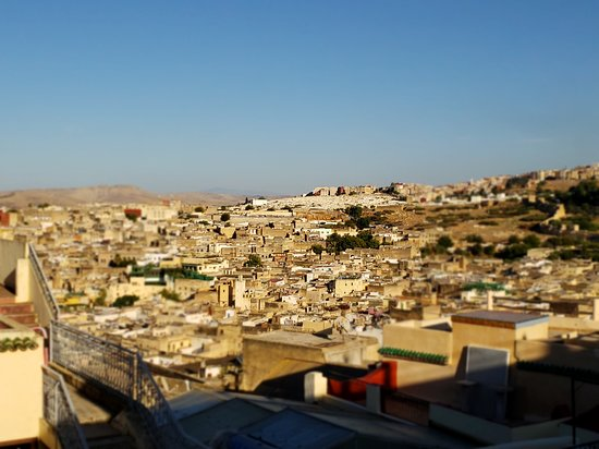 View of medina from rooftop terrace