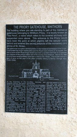 Whithorn, UK: Info board