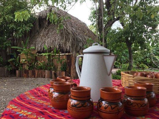 Al llegar a nuestro jardín, te recibimos con una bebida fresca de cacao.