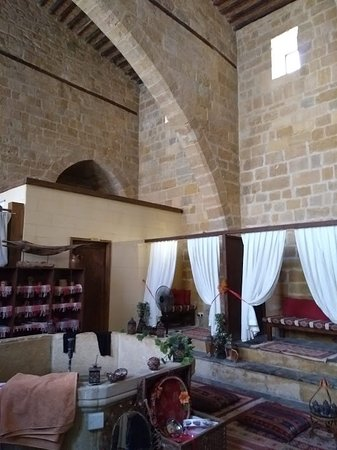 Interior of beautifully renovated 16th-century Buyuk Hamam (tea room)