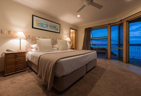 Okaito Room with balcony and incredible sea views