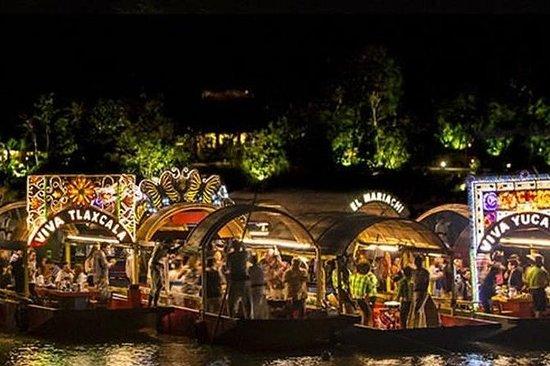 Xoximilco Night Cruise in Cancun