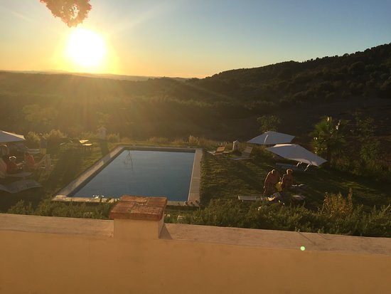 Hacienda la Morena: The pool and the hills
