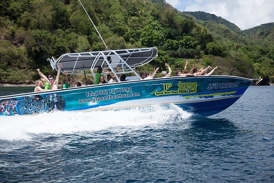 St Lucia Speedboot en Sightseeing ...