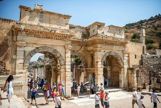 Antica visita di Efeso con la casa