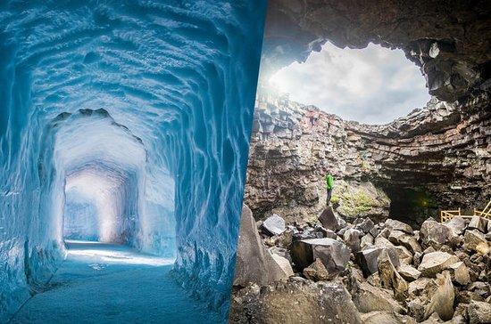 Inn i isbreen tur og Lava Cave Day Trip...