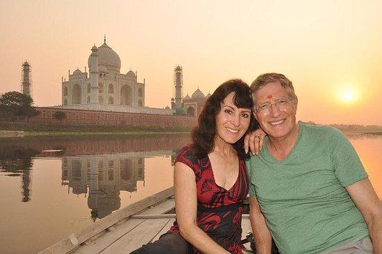 Amanecer o atardecer Vista de Taj...