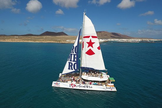 Hele dag La Graciosa catamarancruise ...