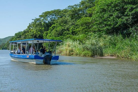 Passeio de barco rio Bebedero de...