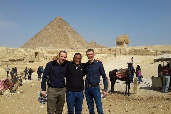 Pyramider av Giza og Great Sphinx...