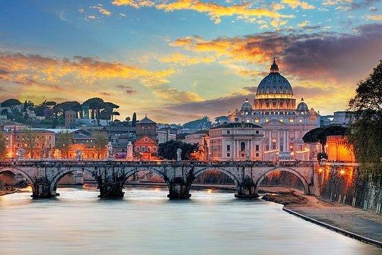 Museus do Vaticano ao entardecer...