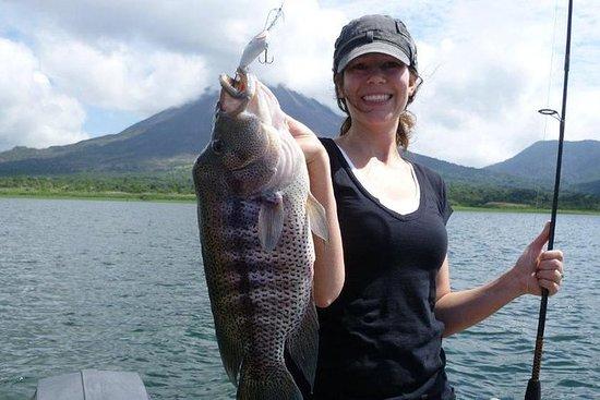 Sport fishing at Arenal Lake of La...