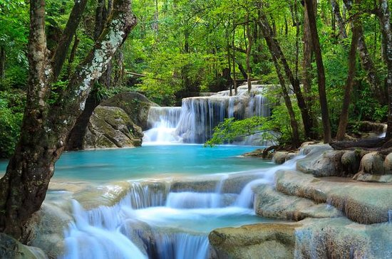 Private Tour to Erawan Waterfalls and...