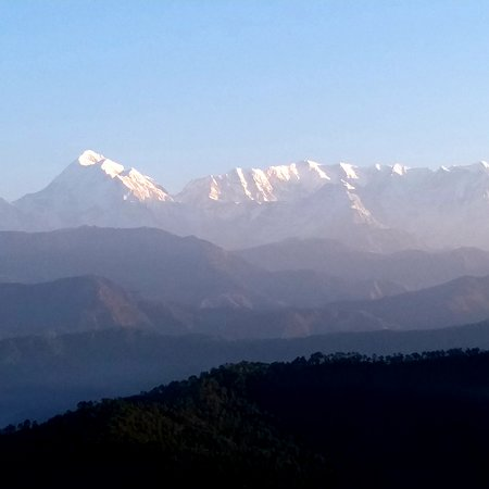 Superb view of Trishul and Nandadevi peaks from Hotel room
