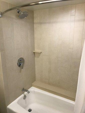 Room bathroom shower / bath area.