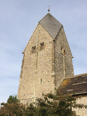 Sompting, UK: St Mary's Church tower with Rhenish Helm
