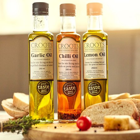 Have you tried Steve Croot's Award Winning range of oils? It's how the farm shop started out over 10 years ago and perfect for salads, dipping or cooking!
