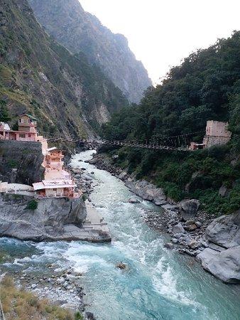 Saraswati river and sangam at Maana village, Badrinath