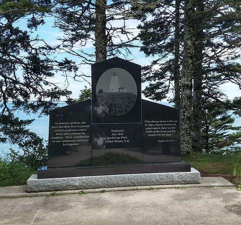 Fisherman's memorial in Anchorage Park