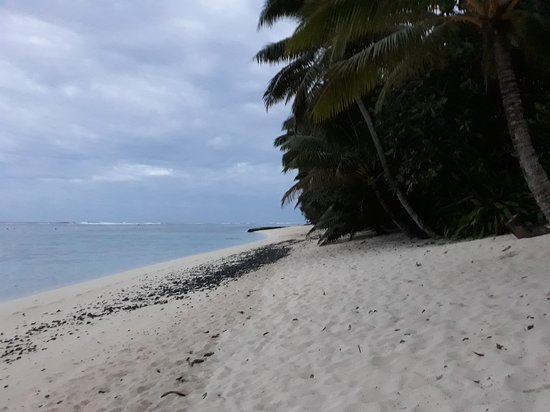 Cooks Bay Villas: beach in the other direction