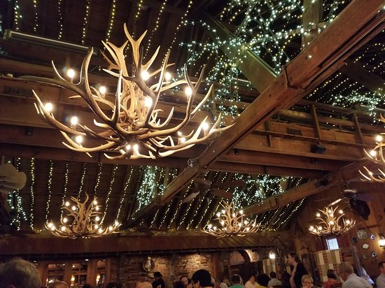 The Angus Barn: one of the dining rooms