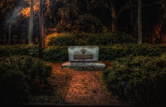 This is the Old Jewish Cemetery dating back to 1733. The second oldest cemetery inSavannah Georgia. Ghostwalker Tours will show you where it's at and share it's history with you!