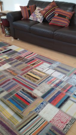 Patchwork kilim and cushions