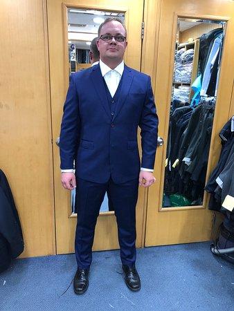 Blauer Business Anzug