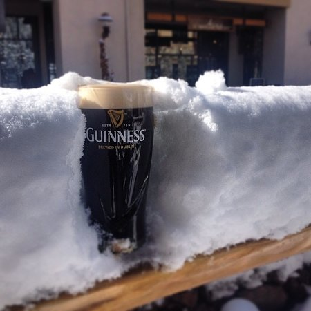 Guiness in the fresh powder