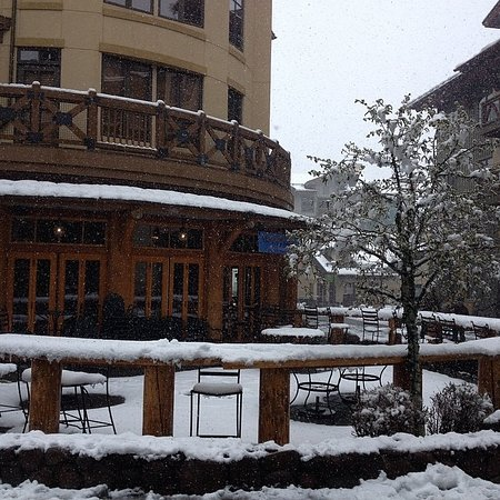 Snow on the patio at Squaw Valley