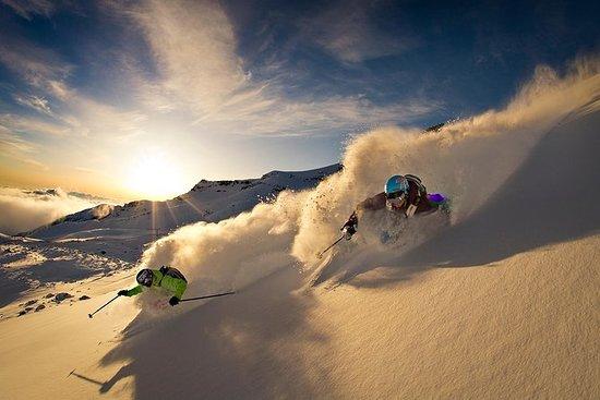La Parva滑雪课程的初学者滑雪日