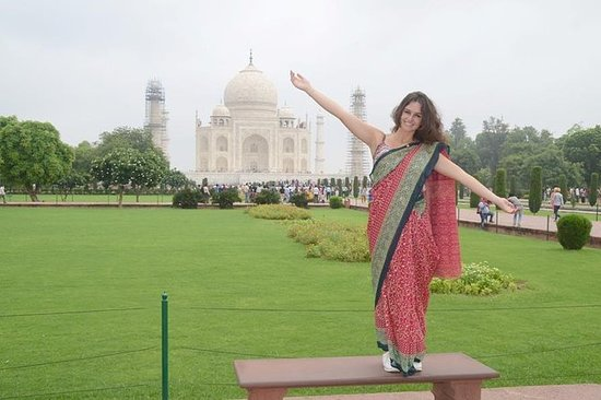 私人旅游:从德里到阿格拉的一日游,包括TajMahal和阿格拉堡(A / c...