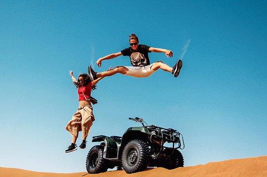 DuabiでのBBQとプロの写真によるクワッドバイクツアー