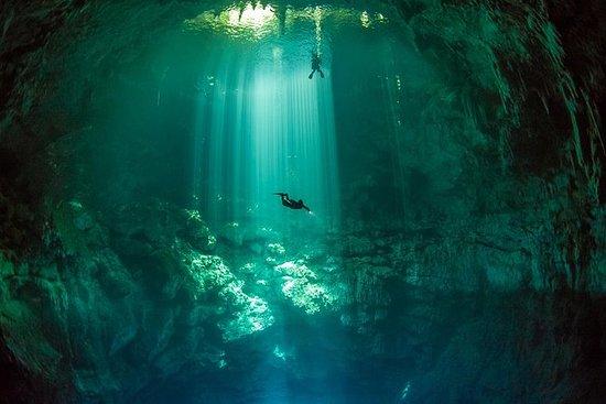 2 mergulhos no cenote (incluindo um...
