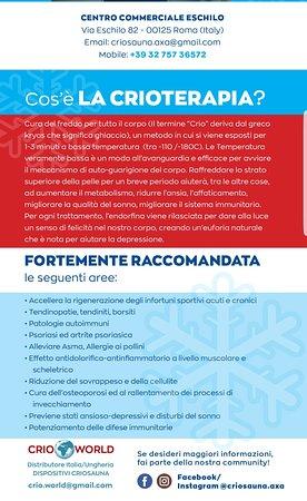 Cosa e' la Crioterapia