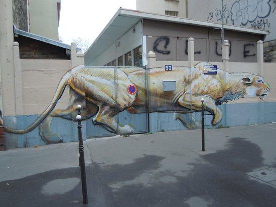 Fresque La Lionne