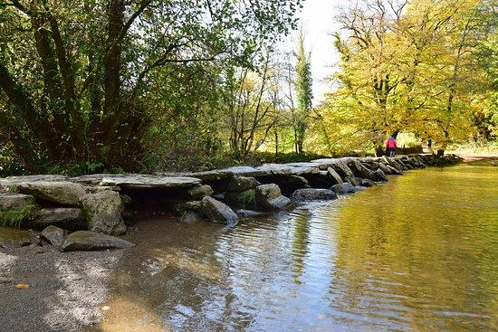 Tarr Farm Inn: Tarr steps bathed in autumn sunshine
