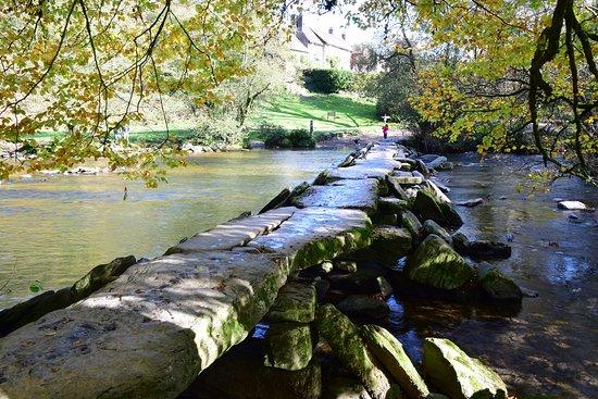 Tarr Farm Inn: Tarr steps shows the tea room restaurant in the distance