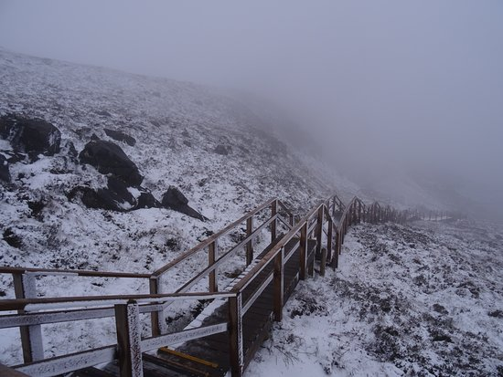 Cuilcagh Boardwalk Trail: Cold and snowy up higher