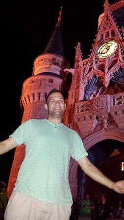 Cinderella Castle: Me outside Cinderella's Castle at Disney World