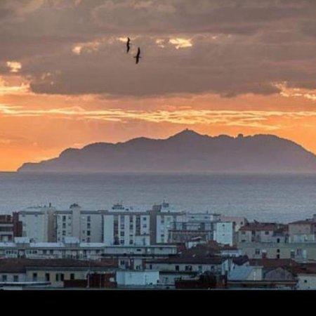 Isola di gorgona vista da Livorno