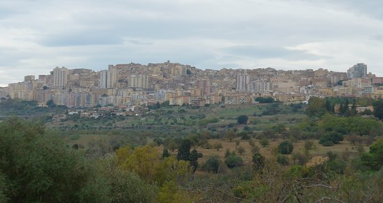 Agrigento, Valley of the Temples, view on Agrigento