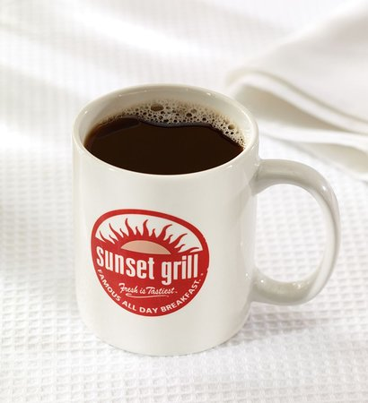 Sunset Grill Signature Blend freshly brewed coffee.