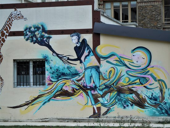 La Courneuve, ฝรั่งเศส: Détail de la fresque