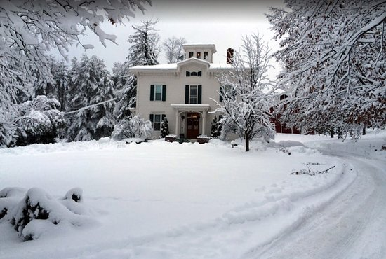 Antique Mansion B&B: The area is beautiful in winter!