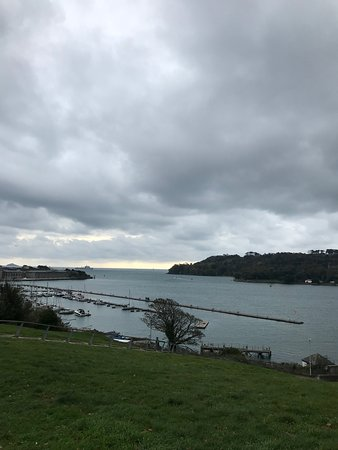 Between RWY and Mount Edgecumbe to the Sound and open sea.