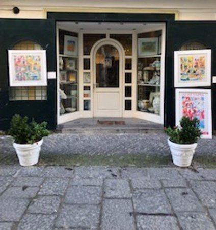The Luigi Nappa Gallery in the Porto of Procida, Italy