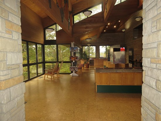 Canyon Rim Visitor Center interior